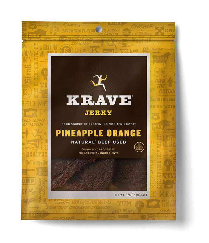 Krave jerkey PineappleOrange