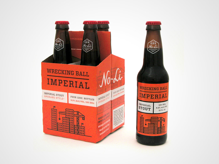 15 Awesome Packaging Design Ideas - No-Li Brewhouse by Riley Cran