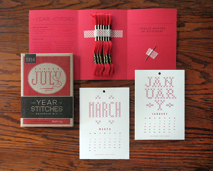 Stitch it yourself calendar kit the dieline packaging branding designed by heather lins wisconsin solutioingenieria Gallery