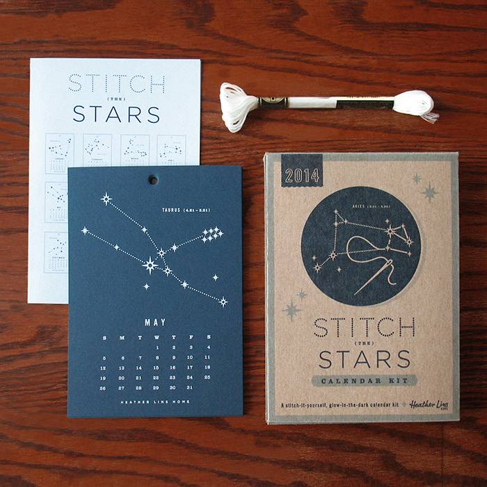Calendar Typography Kit : Stitch it yourself calendar kit — the dieline packaging