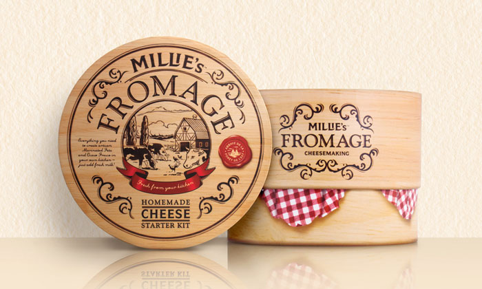 Packaging design inspiration #17 - Millie's Fromage by Curious Design