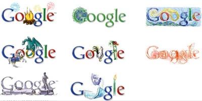 11 27 12 google logo variants