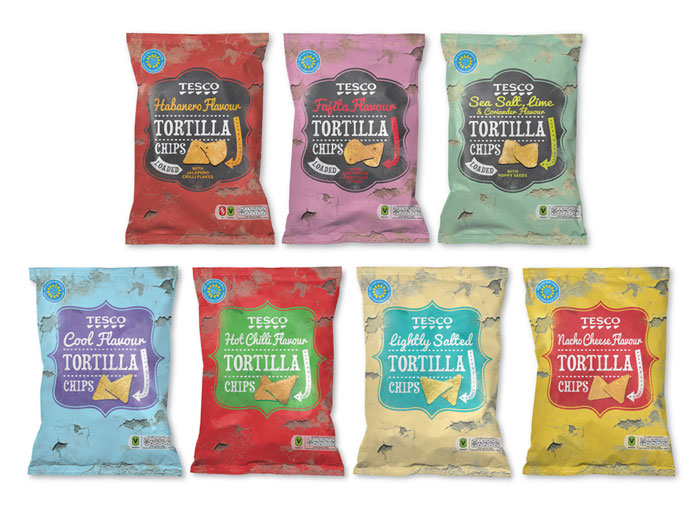 15 Awesome Packaging Design Ideas - Tesco Tortilla Chips by Buddy