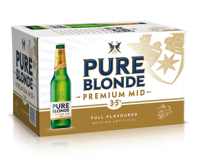 Pure Blonde MID carton