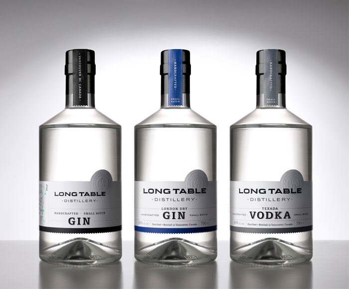 Packaging design inspiration #10 - Long Table Distillery by Saint Bernadine Mission Communications Inc.