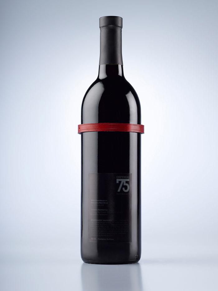 Winebottle Back Label bottle