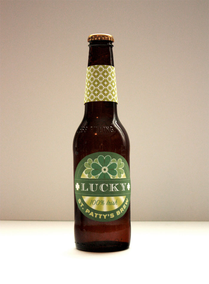 Lucky Brew Printable St Patrick Day Labels The Dieline