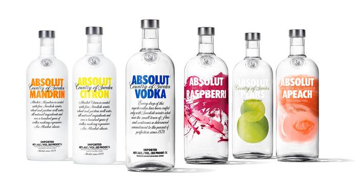 Absolut Vodka Revamps Flavor Range — The Dieline