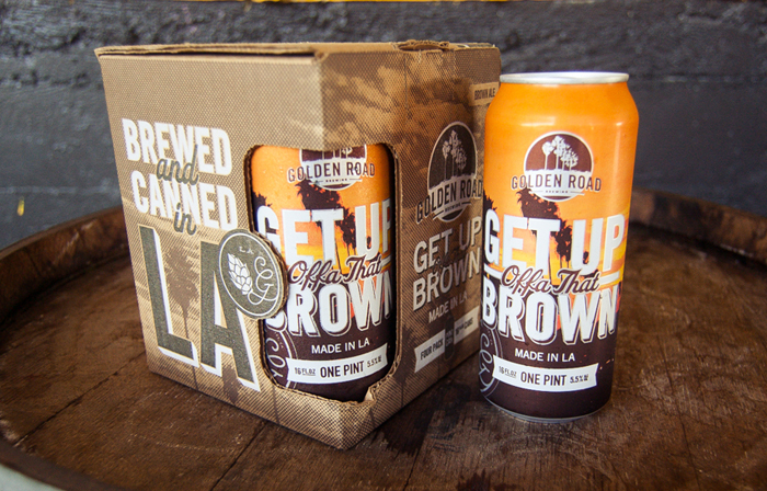 Packaging design inspiration #11 - Golden Road Brewing's Get Up Offa' That Brown by Gamut SF