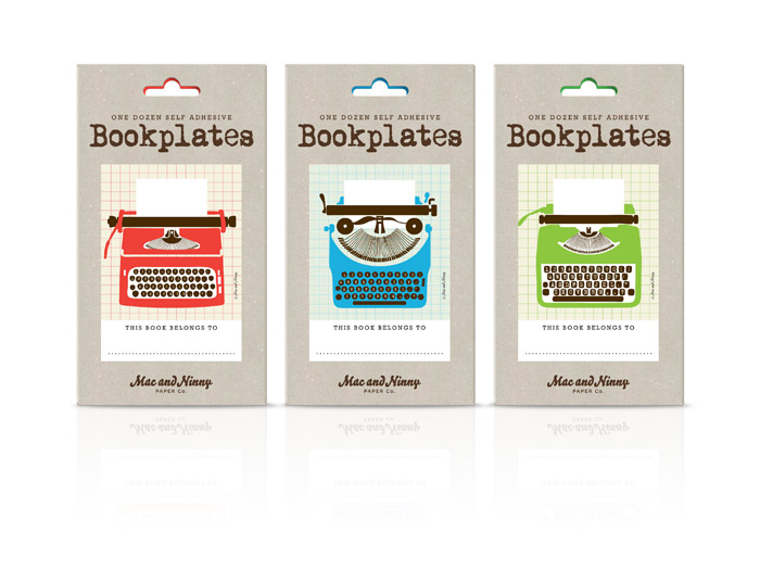 Typewriter bookplates