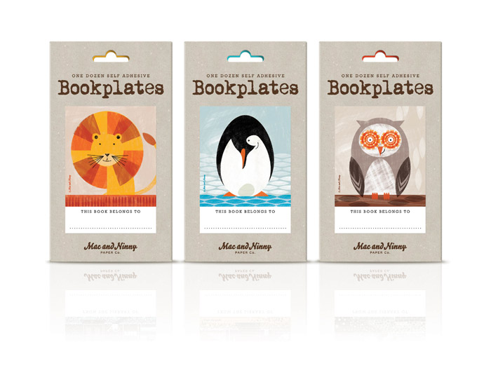 Animal bookplates