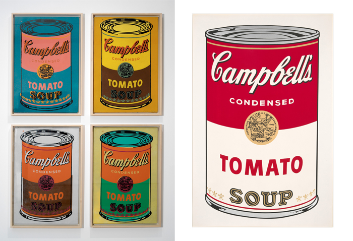 an analysis of the work art campbells soup cans by andy warhol Andy warhol, campbell's soup cans, 1962 (moma) smarthistory images for teaching and learning: more smarthistory images.