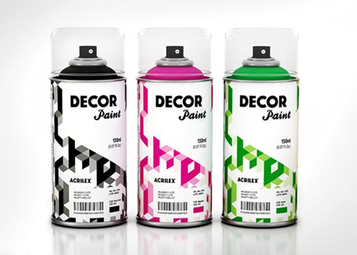 acrilex decor paint — the dieline | packaging & branding design