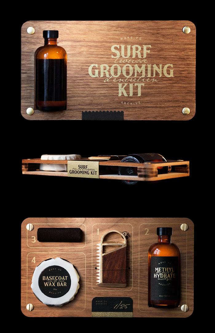 the surf grooming kit the dieline packaging branding design innovation news. Black Bedroom Furniture Sets. Home Design Ideas