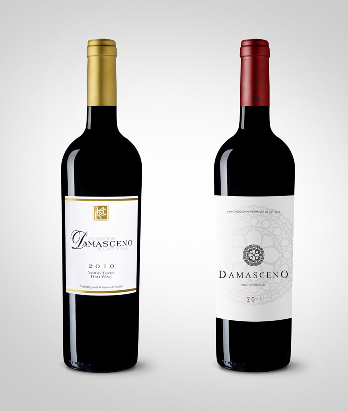 Before Amp After Damasceno Red Wine The Dieline