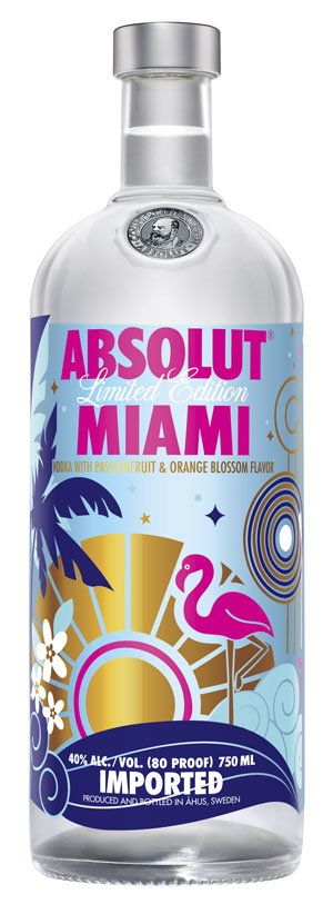 Absolut Miami Bottle 750ml