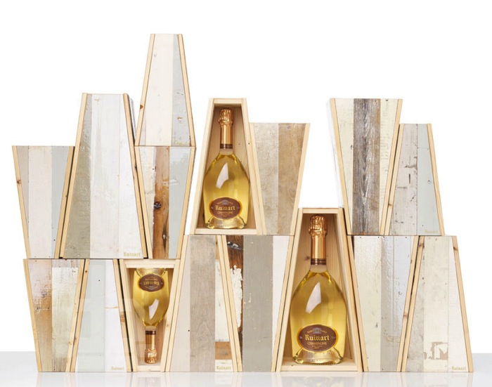 Ruinart Champagne Reclaimed Wood Packaging By Piet Hein