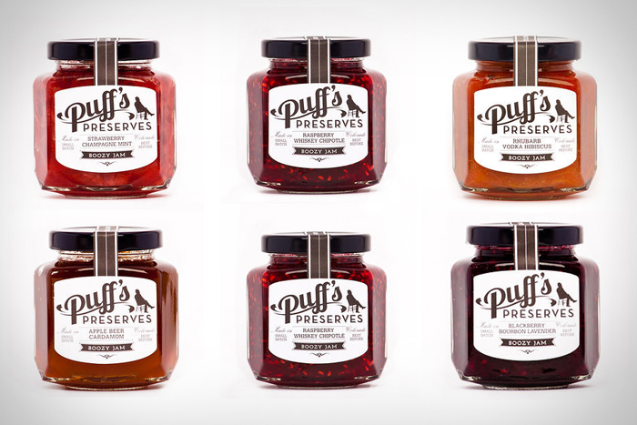 Packaging design inspiration #12 - Puff's Preserves Boozy Jam