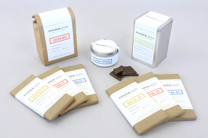 Packaging design inspiration #12 - Yonder & Co. Chocolate Shop by Alex Register