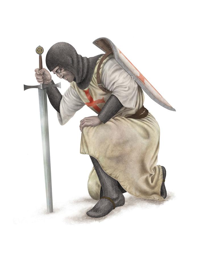 Knight Pose 1 FLAT SML