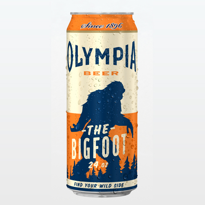 Packaging design inspiration #17 - Olympia Beer, The Bigfoot 24.oz by Pabst Brewing Co.