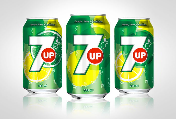 Minimalist design concept home design - New 7up International Packaging The Dieline Packaging