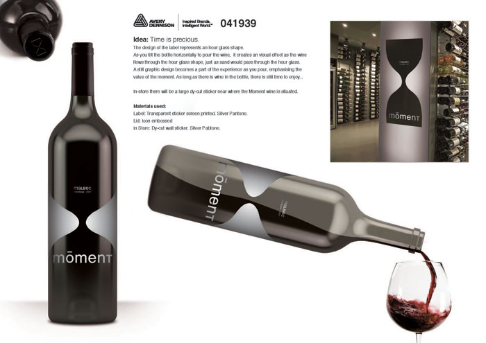 Avery Dennison Brand Experience Contest Winner Wine Category Label and Retail Graphics Louise Besseling Tan Branding