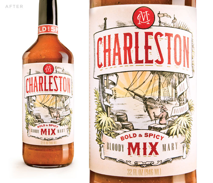 Before Amp After Charleston Mix The Dieline Packaging