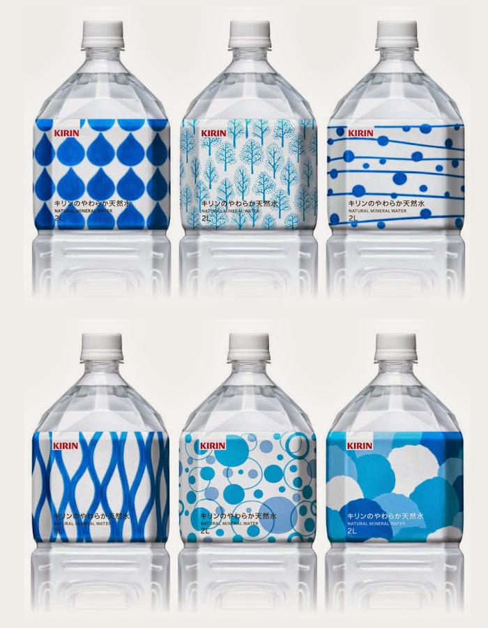Kirin Natural Mineral Water The Dieline Packaging