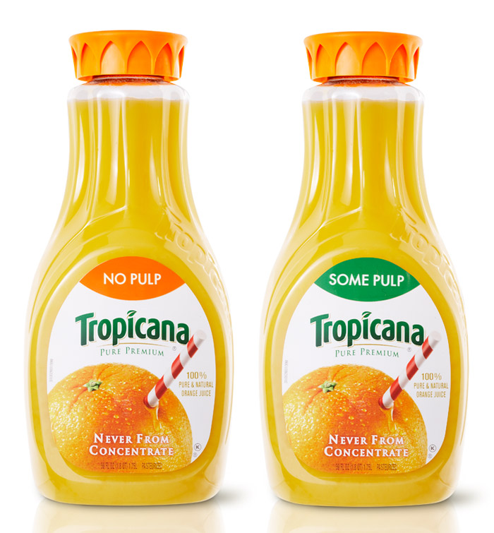 Tropicana carafe the dieline packaging branding for Wine and orange juice name