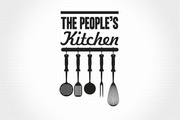 The Kitchen Logo the people's supermarket — the dieline | packaging & branding