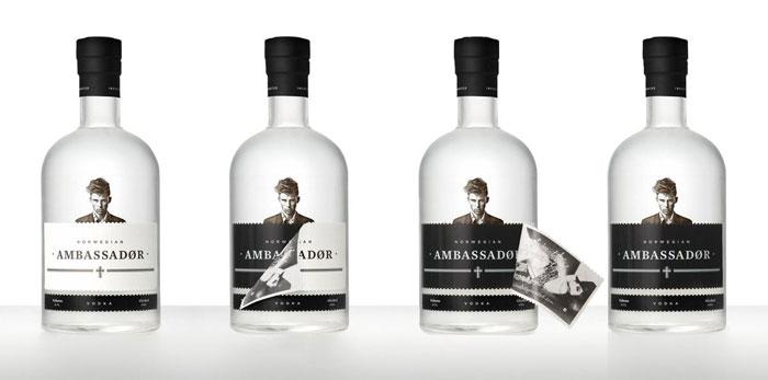 Packaging design inspiration #17 - Ambassadør Vodka by Joakim Jansson