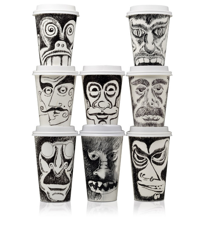 Beautiful Coffee Cup Design Inspiration Face Art In Decorating Ideas