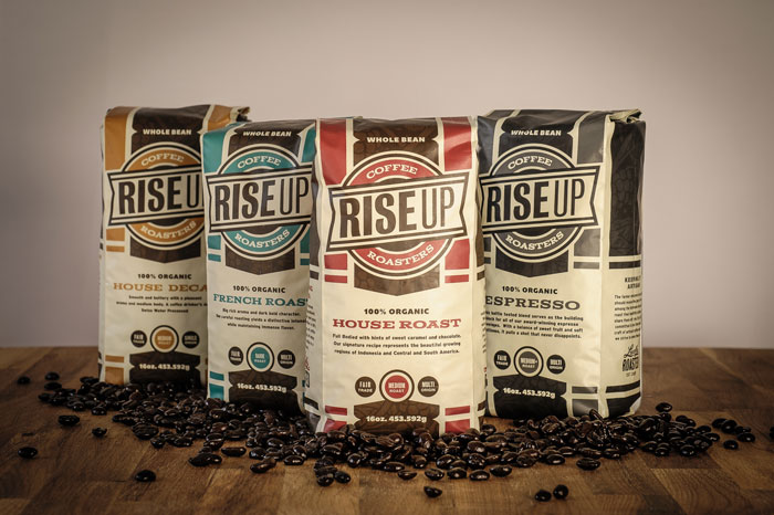 Packaging design inspiration #11 - Rise Up Coffee by JP Flexner