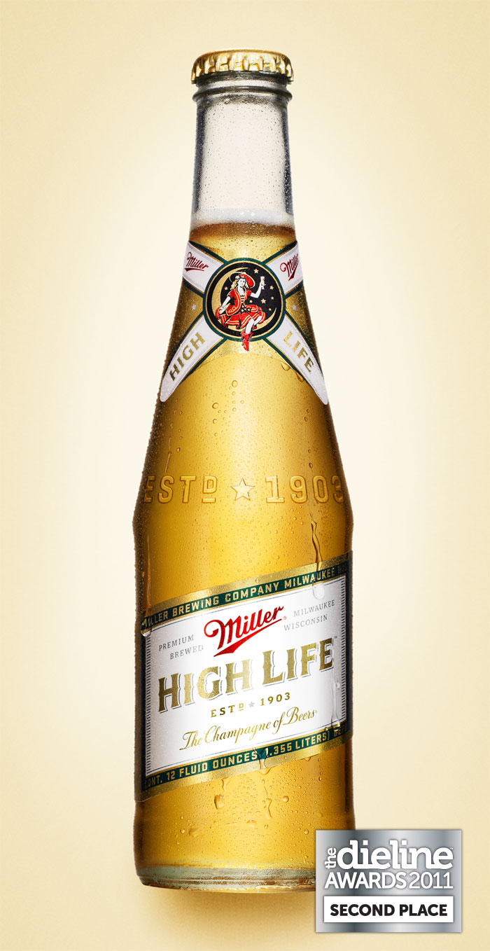 the dieline awards 2011 second place miller high life