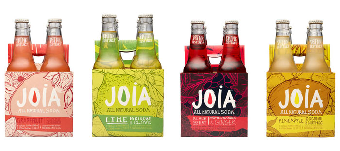 Packaging design inspiration #14 - Joia All Natural Soda by DesignReplace
