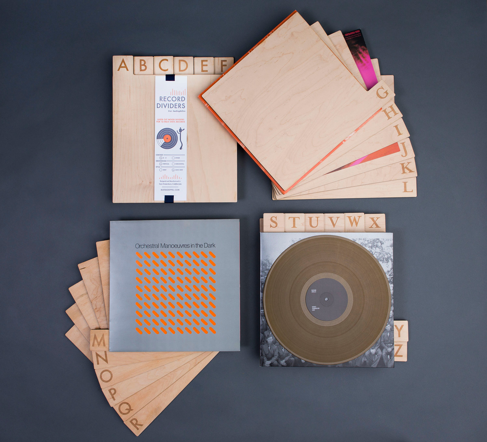 Laser Cut A Z Record Dividers The Dieline Packaging