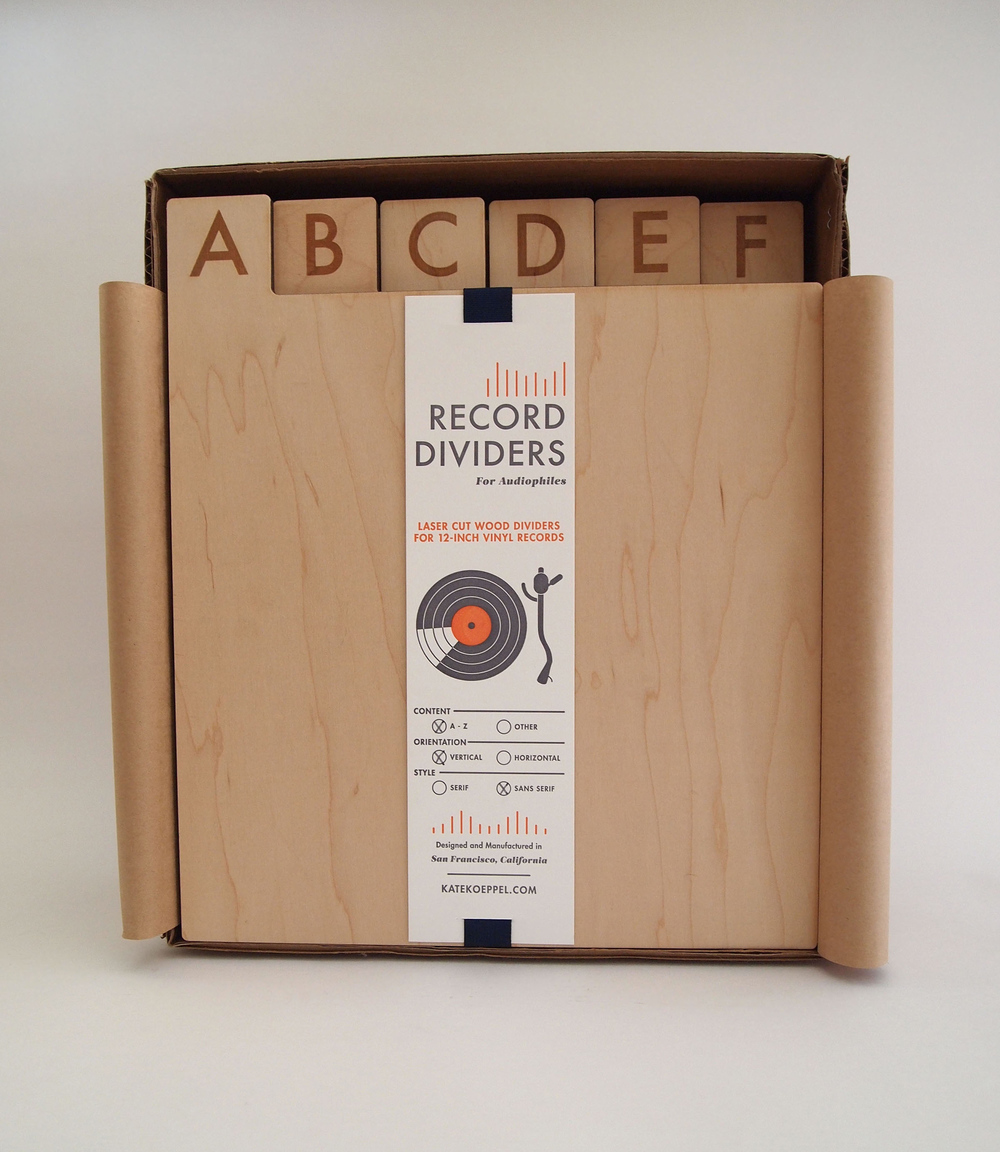 Laser Cut A Z Record Dividers The Dieline Package