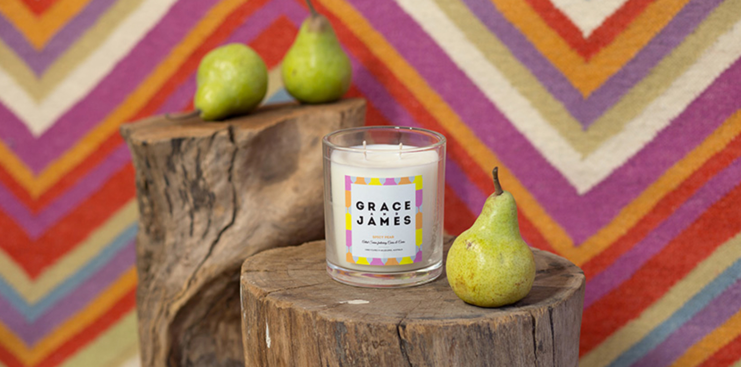 Grace and James Candle Packaging 1
