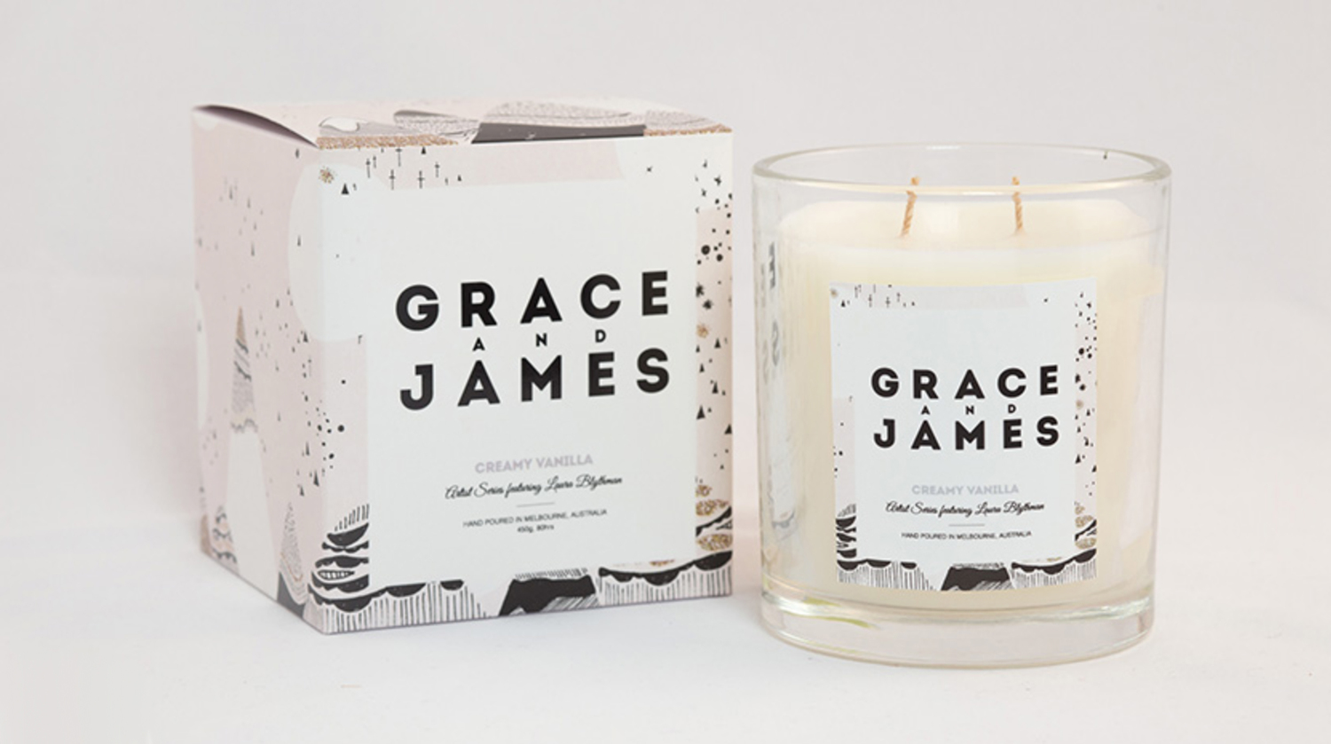 Grace and James Candle Packaging 2