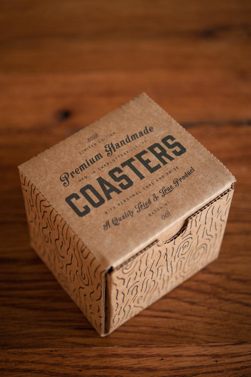 Premium Handmade Coasters The Dieline Branding