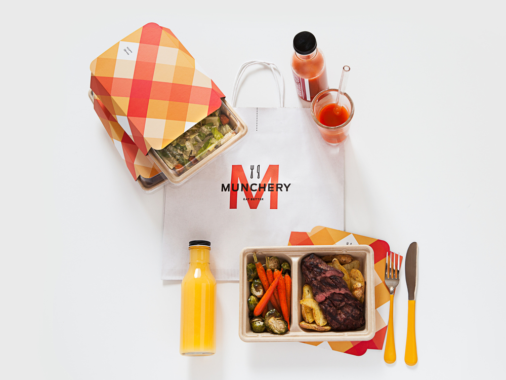 munchery the dieline packaging branding design innovation news. Black Bedroom Furniture Sets. Home Design Ideas