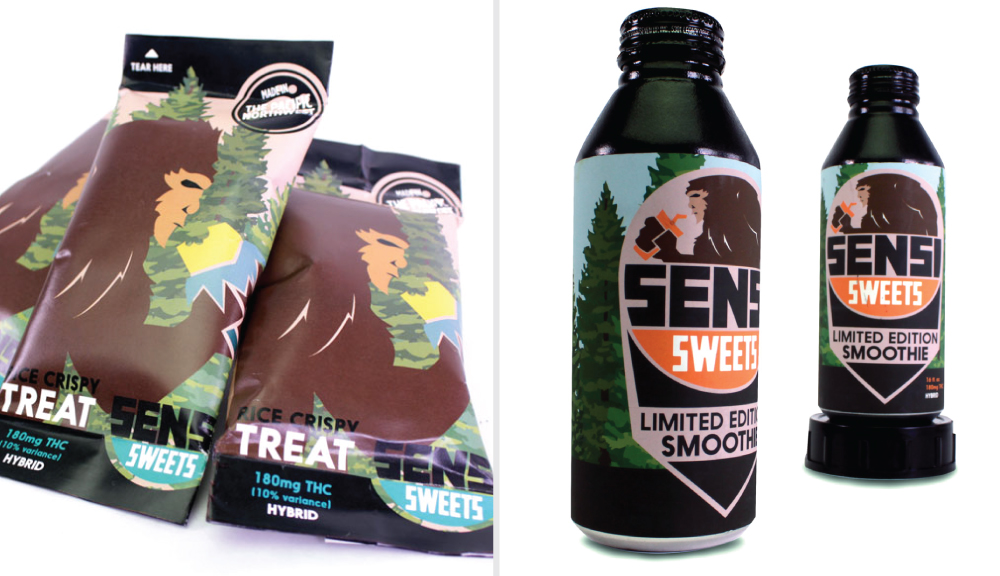 Mekala Nava did an illustrative approach, giving the packaging a distinctly Pacific Northwest feel.