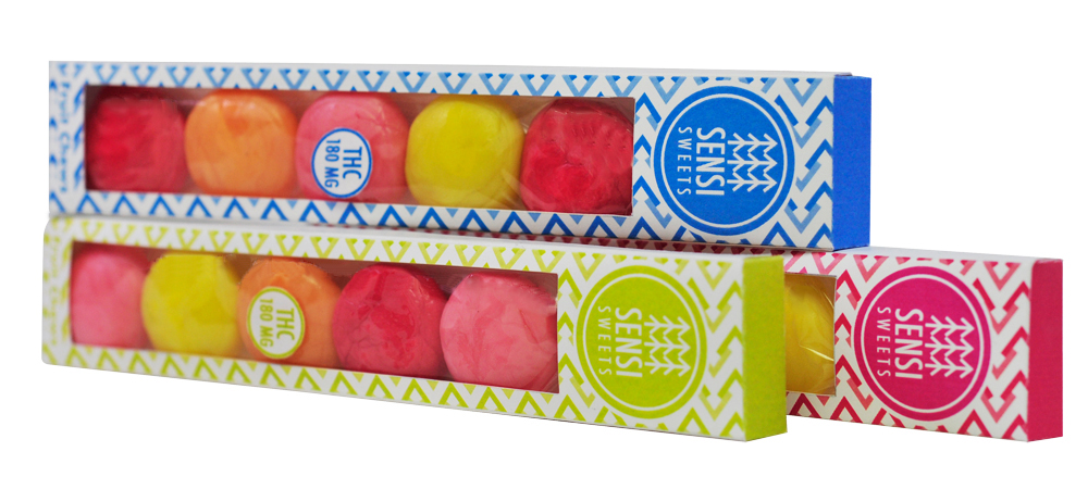 Fruit Chews by Melissa Martin, incorporating a slender box design and see-through panel.