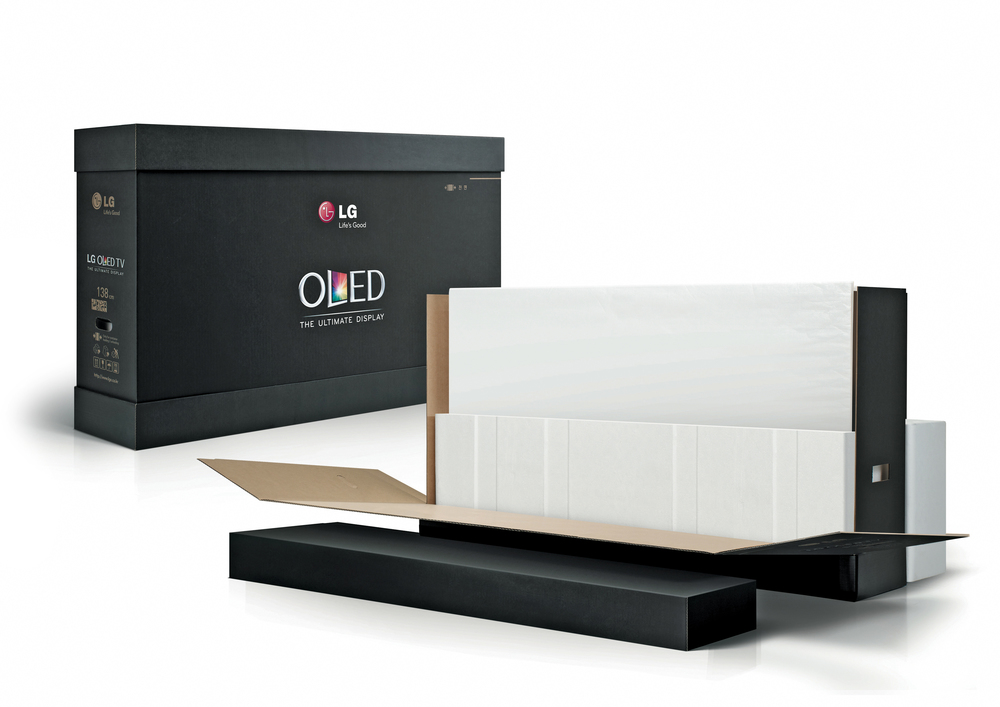 Glueless OLED TV Box The Dieline Packaging amp Branding