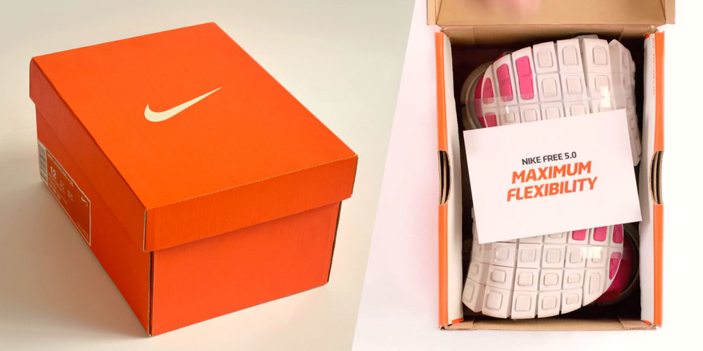 Nike Free Box: A Shoebox 1/3 the Size of the Original