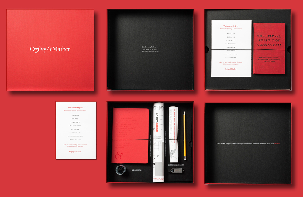 Ogilvy & Mather Induction Box | Dieline