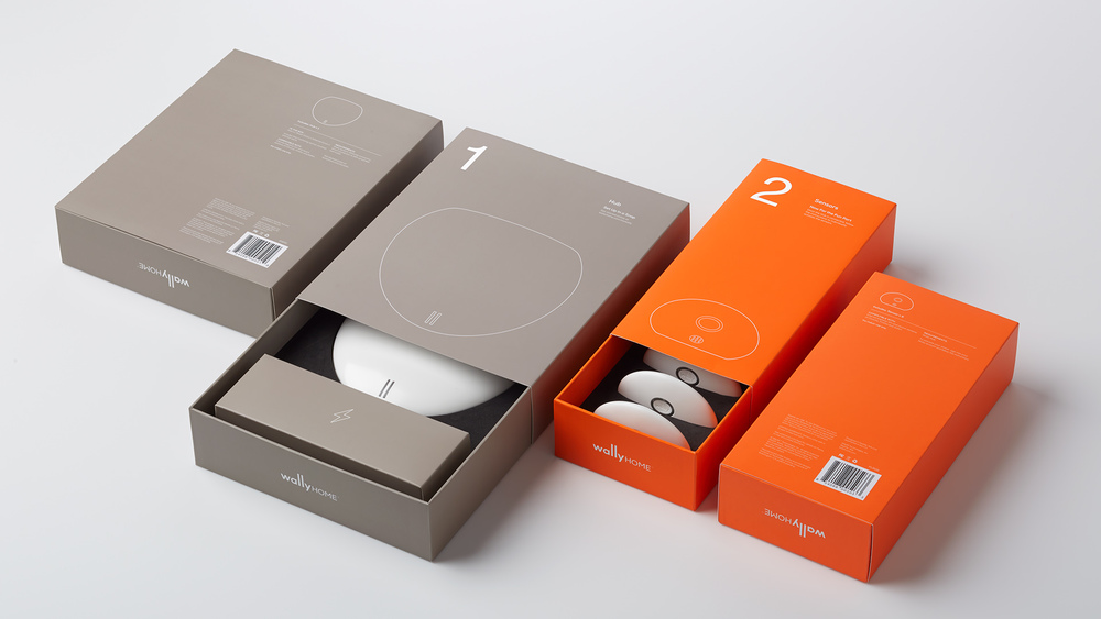 home product design. wally packaging set 4 jpg Wally  Home Sensor System The Dieline Packaging Branding
