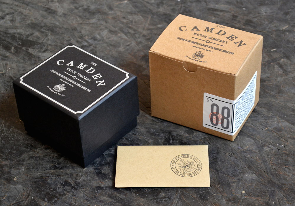 the camden watch company the dieline packaging branding design innovation news. Black Bedroom Furniture Sets. Home Design Ideas