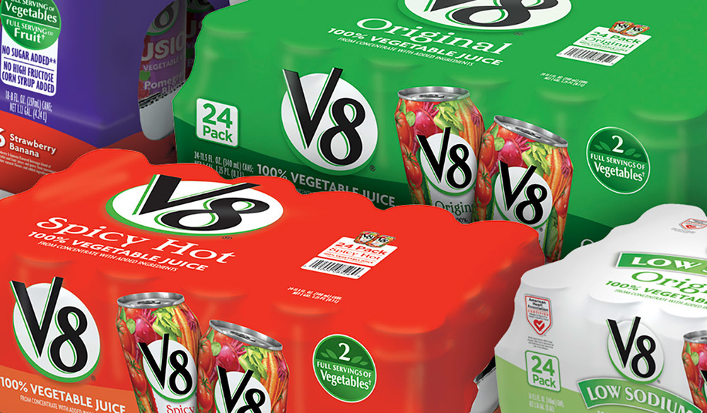 Club store packaging system for V8